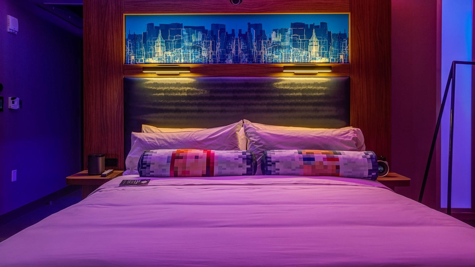 Lighting Controled by Smartphones at Aloft (Photo: Starwood)